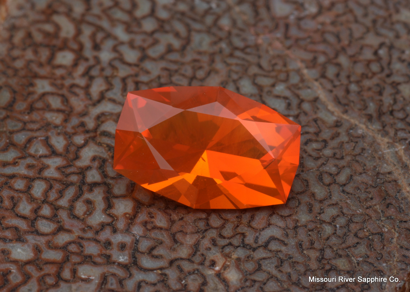 Fire Opal Mexican Orange Custom USA Cut Clarity Color Play of Color
