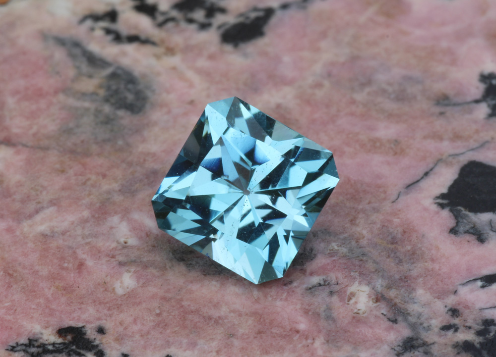 Aquamarine, Ethiopian, Unheated, Blue, Green, Square, Radiant