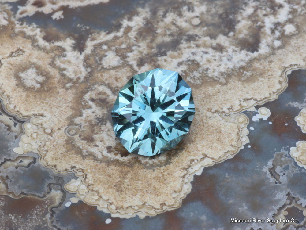 Montana Sapphire Unheated Precision Cut