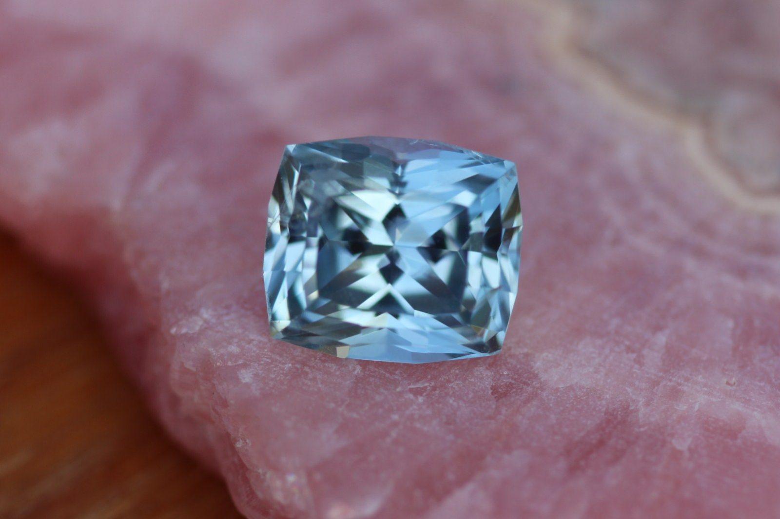 Blue Montana Sapphire Unheated Precision Cut Rectangle Cushion Rock Creek All Natural