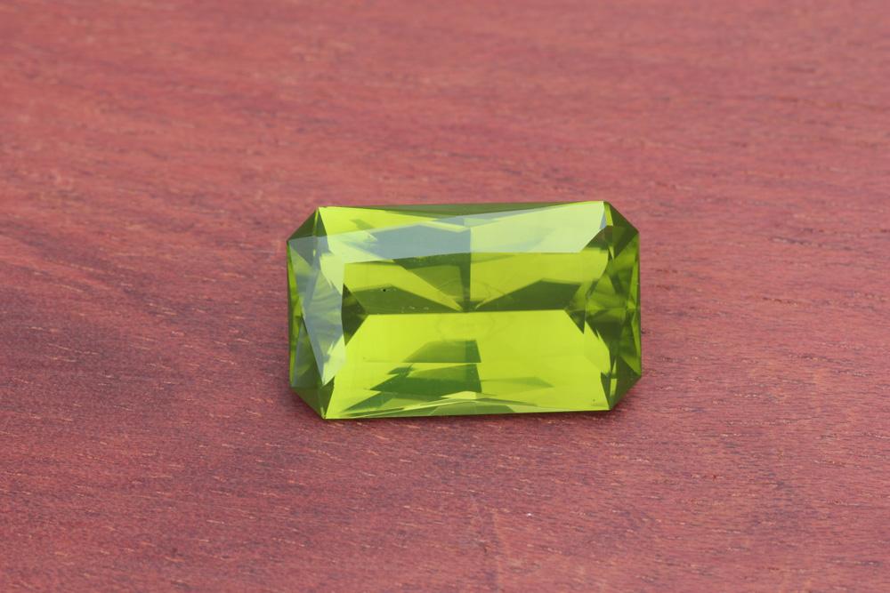 Peridot Arizona San Carlos Green Emerald Rectangle Precision Cut