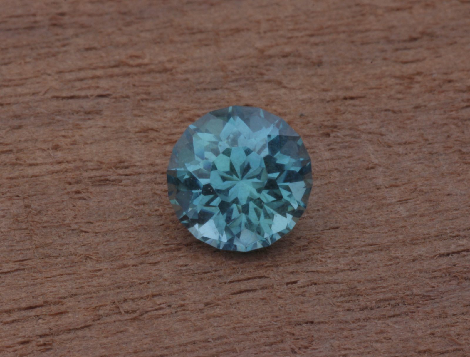 Blue Green Montana Sapphire Unheated Precision Cut Round