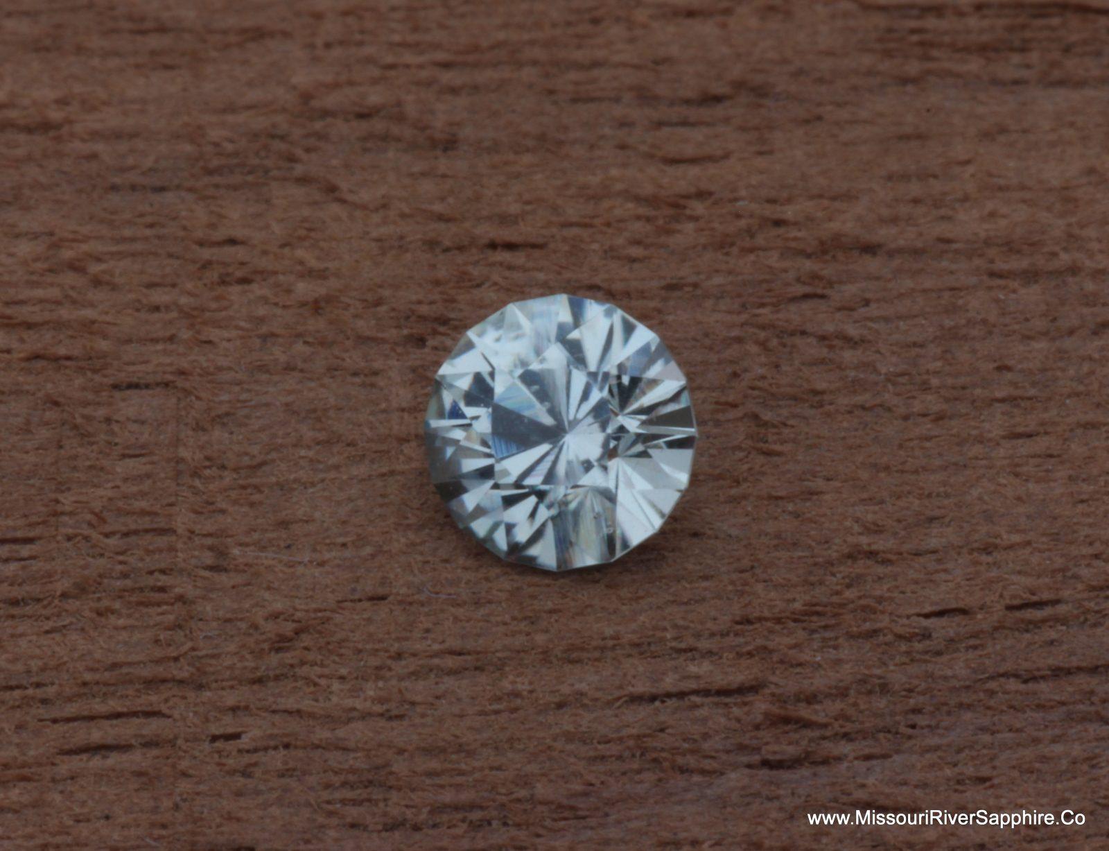 Montana Sapphire, Unheated, White, Clear, Round