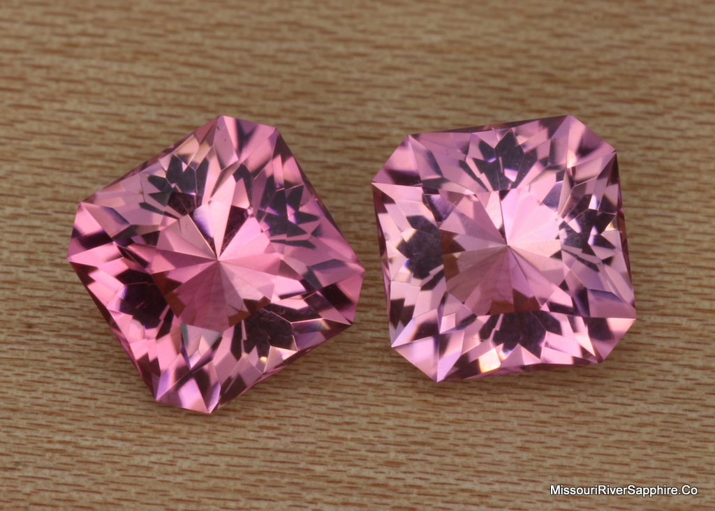 Pink Tourmaline Pair Earrings Himalaya Mine California Flawless