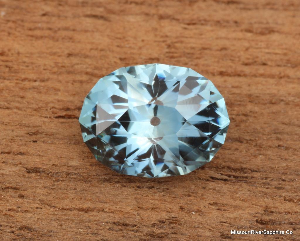 Unheated Blue Montana Sapphire Oval, 2 carats