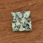 1.57ct Mint Green Montana Sapphire, Princess Cut, Unheated