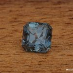 1.4ct Violet Blue Montana Sapphire, Unheated Assher Cut