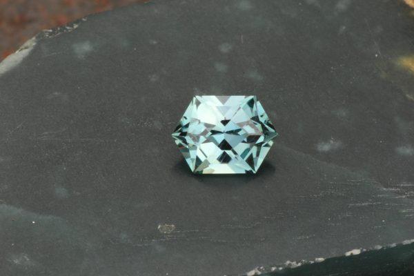 Unheated Aqua Montana Sapphire Hex